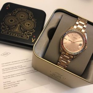 Fossil NEW rose gold watch